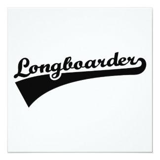 Longboarder 13 Cm X 13 Cm Square Invitation Card