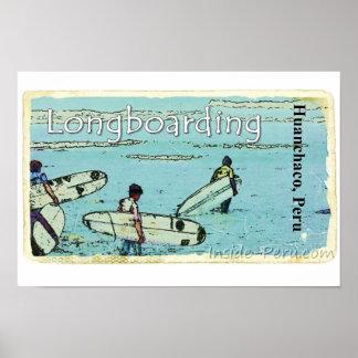 Longboarding Huanchaco Peru Surfing Posters