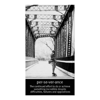 Longboarding Perseverance Posters