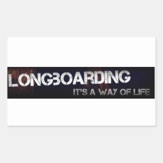 Longboarding Rectangular Sticker