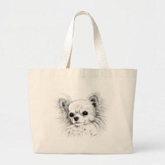 Longcoat chihuahua canvas bags
