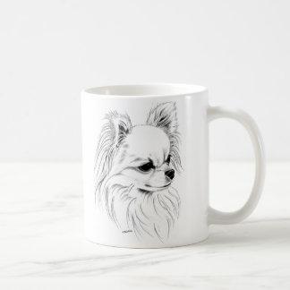 Longcoat chihuahua coffee mug