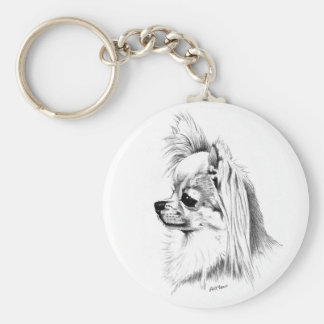 Longcoat chihuahua key ring