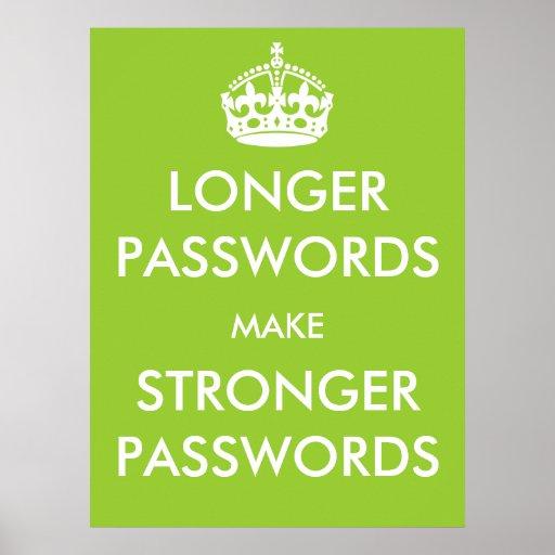 Longer Passwords Make Stronger Passwords Poster