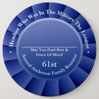 Longest Military Family Member Reunion Awards 6 Cm Round Badge