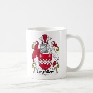 Longfellow Family Crest Basic White Mug