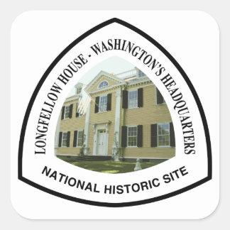 Longfellow House - Washington's Headquarters Natio Square Sticker