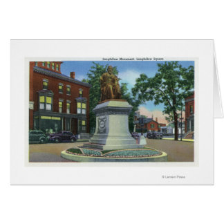 Longfellow Square View of the Longfellow Greeting Card