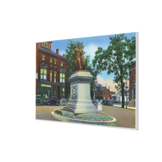 Longfellow Square View of the Longfellow Stretched Canvas Print