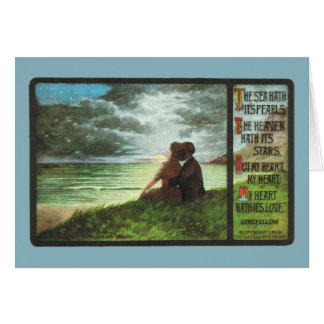 Longfellow's Heart-The Seas Hath It's Pearls Greeting Card