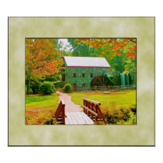 LONGFELLOW'S WAYSIDE GRIST MILL POSTER