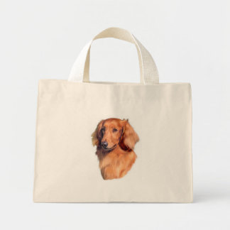 Longhaired Dachshund Tote Bags