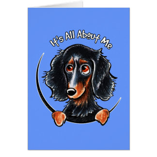 Longhaired Dachshund Black Tan IAAM Card