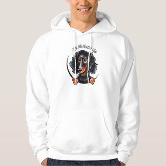 Longhaired Dachshund Black Tan IAAM Hoodie