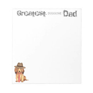 Longhaired Dachshund Dad Memo Notepad