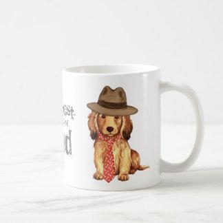Longhaired Dachshund Dad Mugs