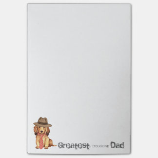 Longhaired Dachshund Dad Post-it® Notes
