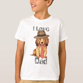 Longhaired Dachshund Dad T Shirts