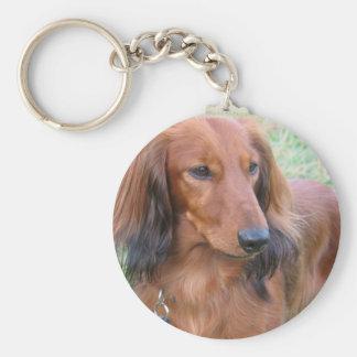 Longhaired Dachshund Keychain