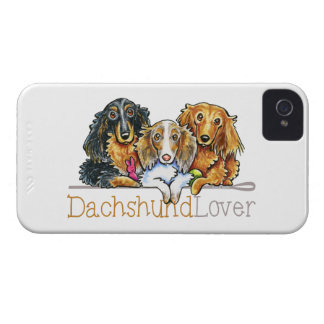 Longhaired Dachshund Lover iPhone 4 Case-Mate Cases