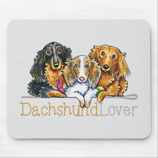 Longhaired Dachshund Lover Mousepads