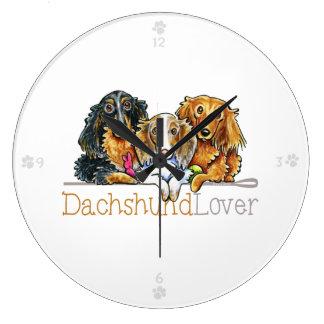 Longhaired Dachshund Lover Wallclock