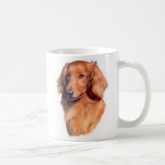 Longhaired Dachshund mug