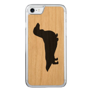 Longhaired Dachshund Silhouette Carved iPhone 8/7 Case