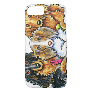 Longhaired Dachshund Trio iPhone 7 Case