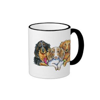 Longhaired Dachshund Trio Mug