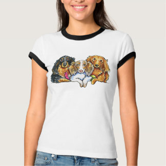 Longhaired Dachshund Trio T-Shirt