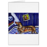 longhaired dachsund senses smiling moon cards