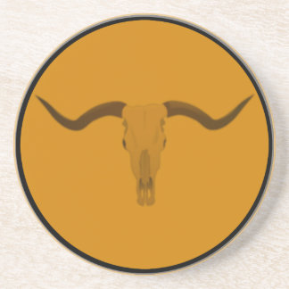 Longhorn bull skull coaster