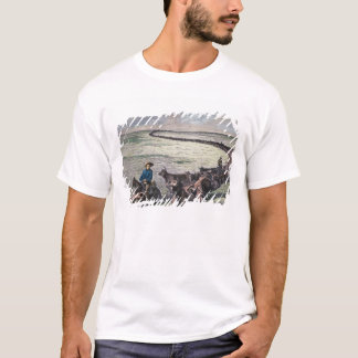 Longhorn cattle drive from Texas to Abilene, Kansa T-Shirt