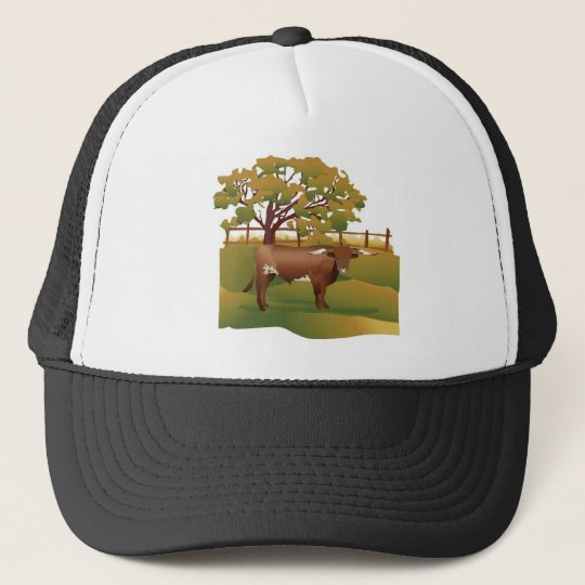 Longhorn Cattle on the Ranch Cap