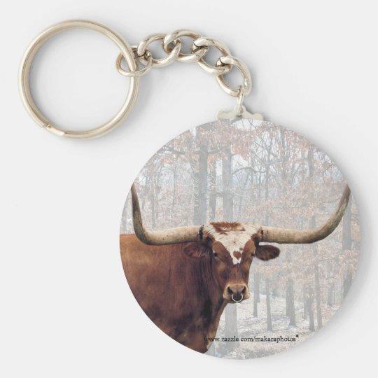 Longhorn keychain-customise key ring