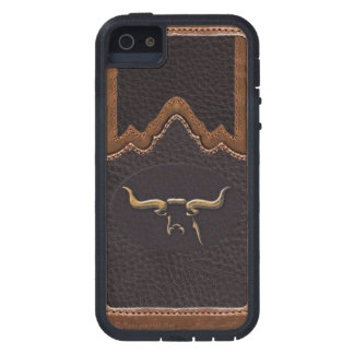Longhorn Photo Faux Leather Tough iPhone 5/5S iPhone 5 Cases