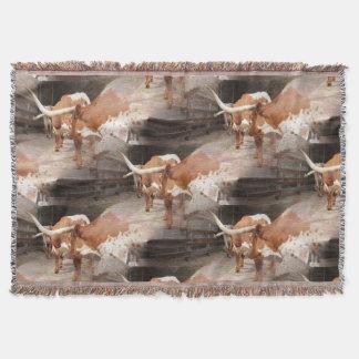 Longhorn Throw Blanket