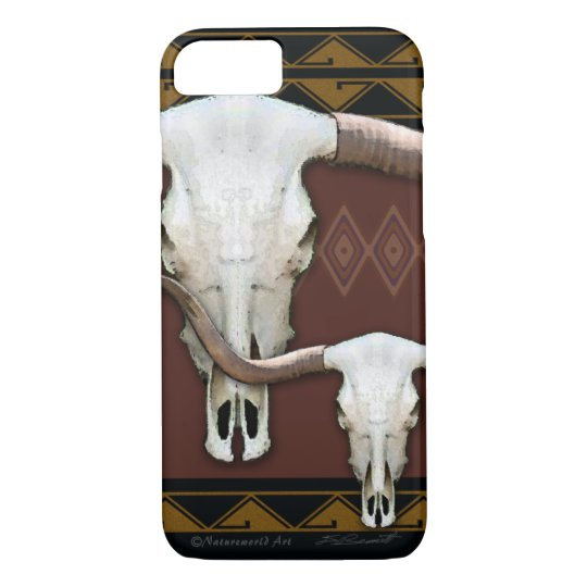 Longhorn Western Skull iPhone 7 Case