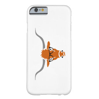 Longhorn with Hipster Glasses Barely There iPhone 6 Case