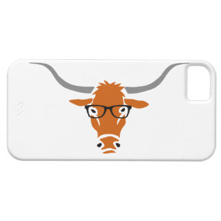 Longhorn with Hipster Glasses Case For The iPhone 5