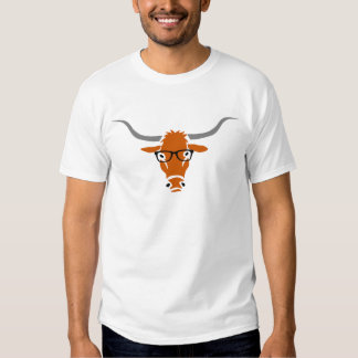 Longhorn with Hipster Glasses Tees