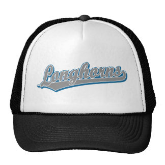Longhorns  script logo in blue and gray cap
