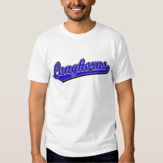 Longhorns  script logo in blue tshirt
