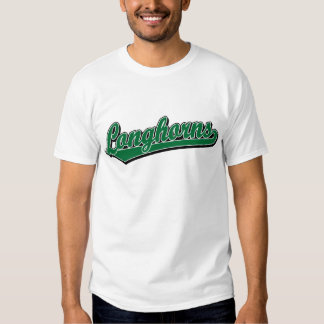 Longhorns  script logo in green t shirt