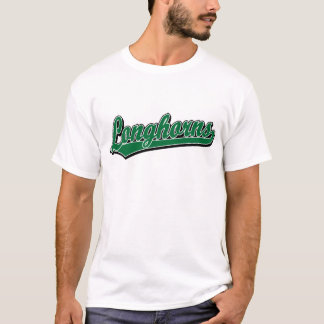 Longhorns  script logo in green T-Shirt