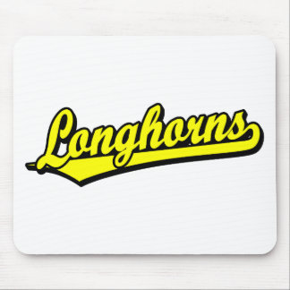 Longhorns  script logo in yellow mouse pad