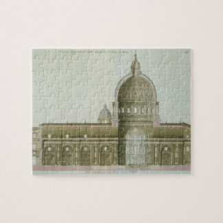 Longitudinal Cross-Section of St. Peter's in Rome, Jigsaw Puzzle