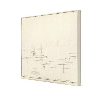 Longitudinal Vertical Projection III Comstock Lode Canvas Print