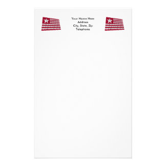 Long's Expedition Flag Personalized Stationery